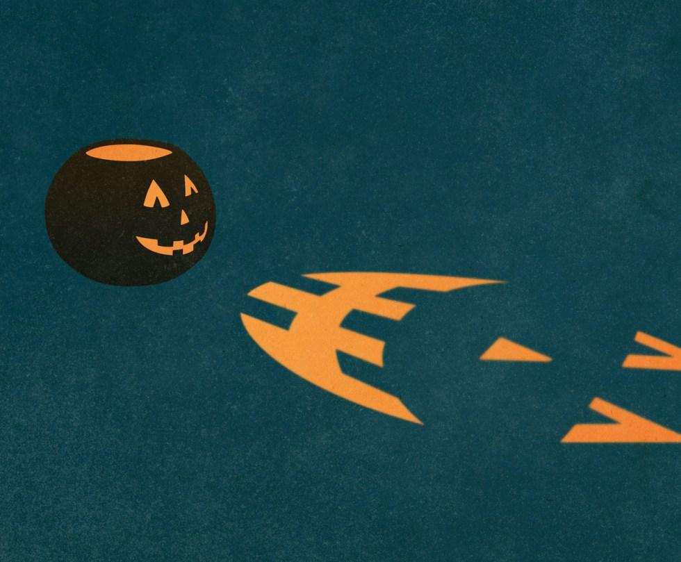 Halloween Jack o'lantern print