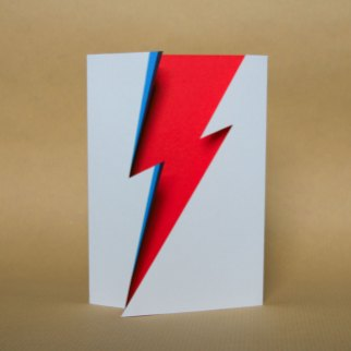 David Bowie / Ziggy Stardust inspired papercut card