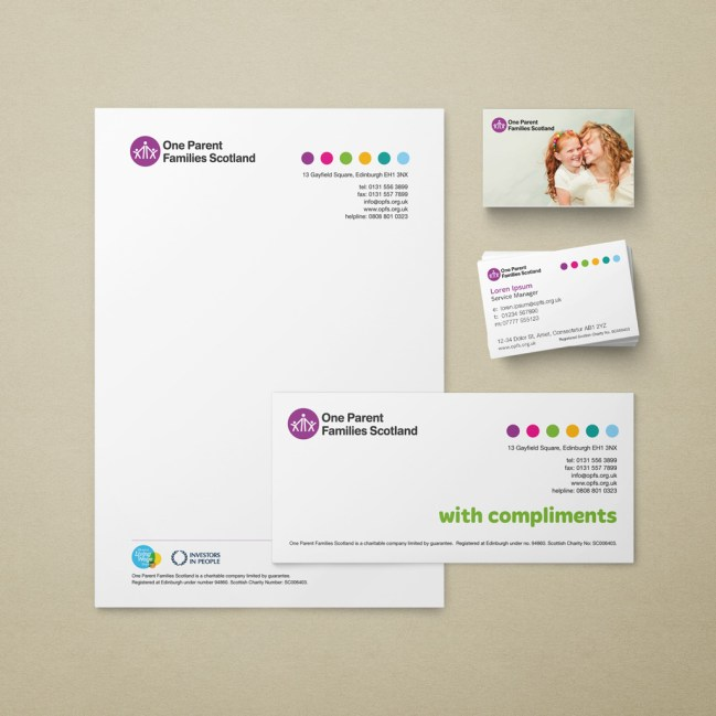OPFS stationery (letterhead, comp slip, business cards)
