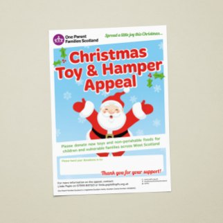 Christmas toy appeal promotional poster