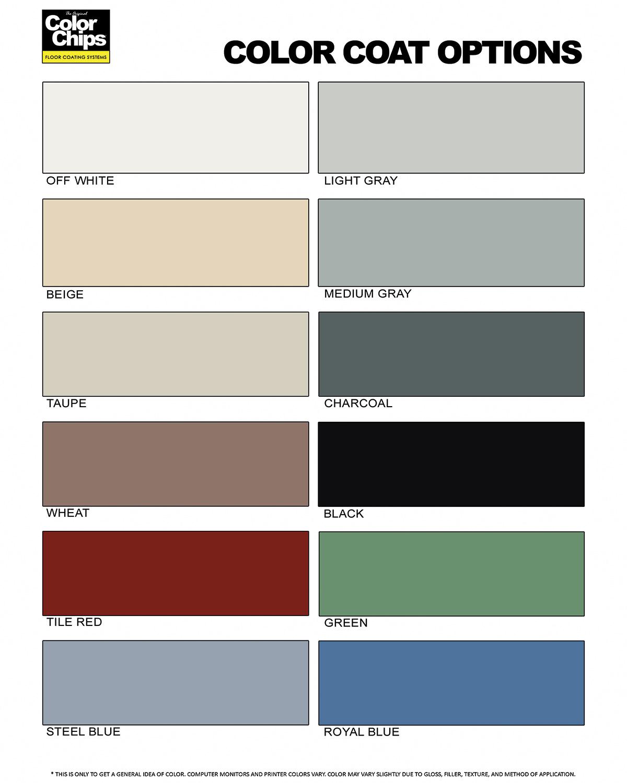 Garage Floor Paint Color Chips Carpet Vidalondon