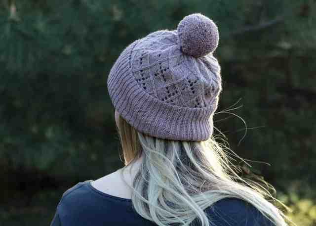 Argyle Hat Knitting Pattern detailed pattern view