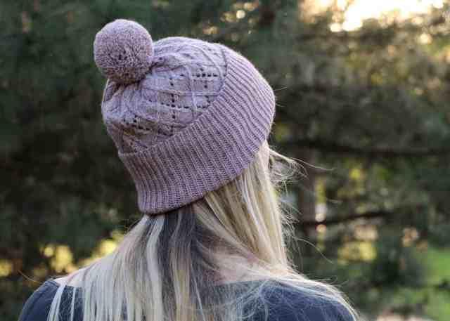Argyle Hat Knitting Pattern back view
