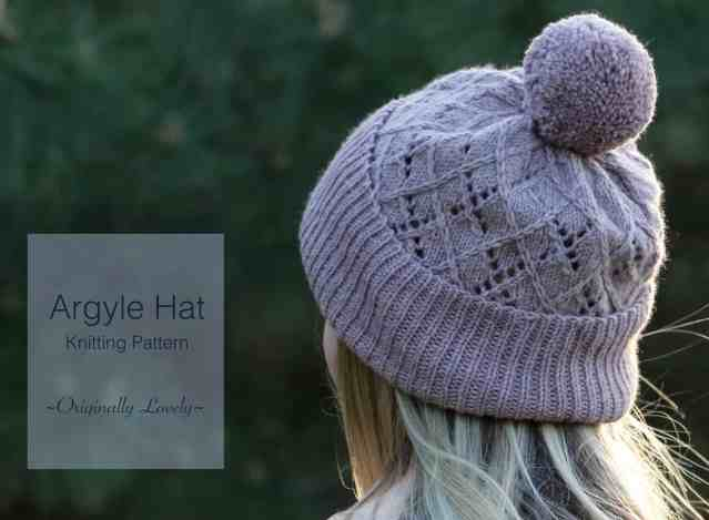 Argyle Hat Knitting Pattern Originally Lovely