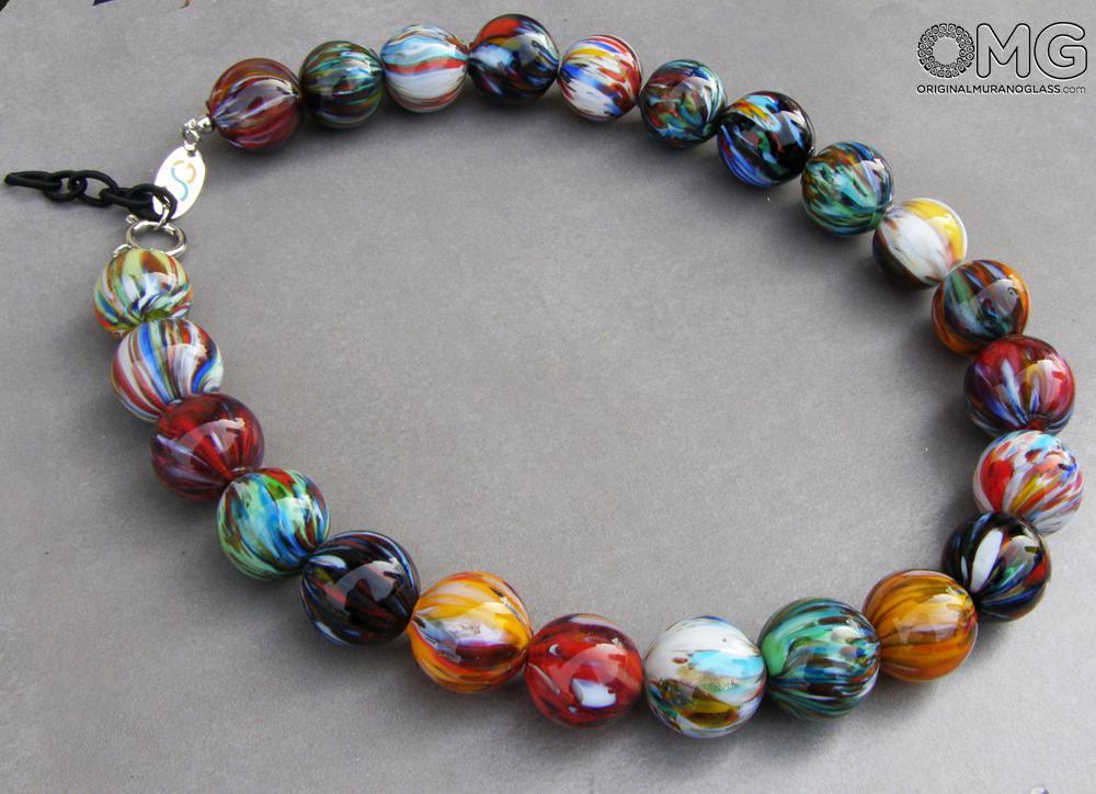 Tintor Necklace Venetian Beads Original Murano Glass OMG