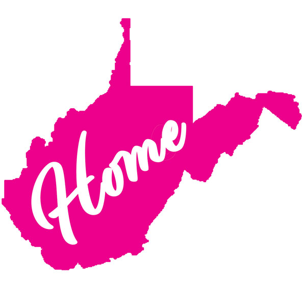West VirginiaHome Decal Pink