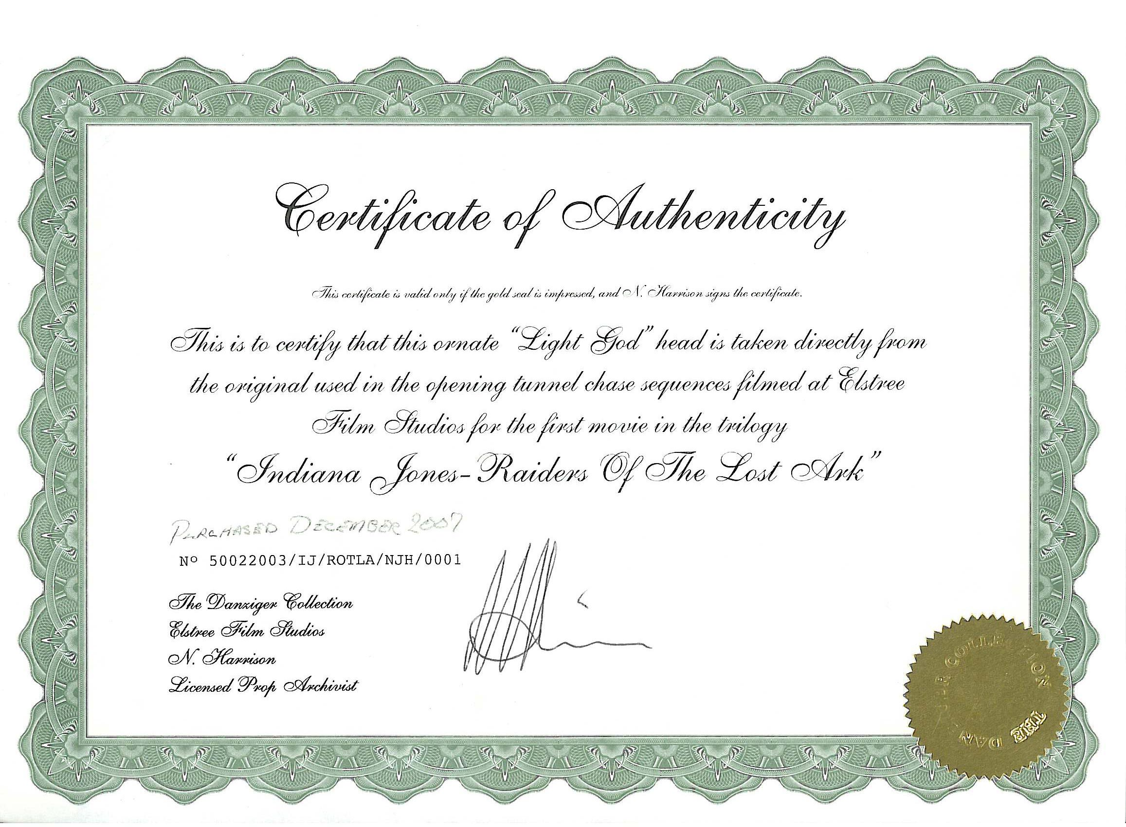 Coa Template. mdmp how to guide. certificate of authenticity how ...