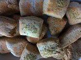 Wholewheat and rye flour mix with a sprinkling of rosemary