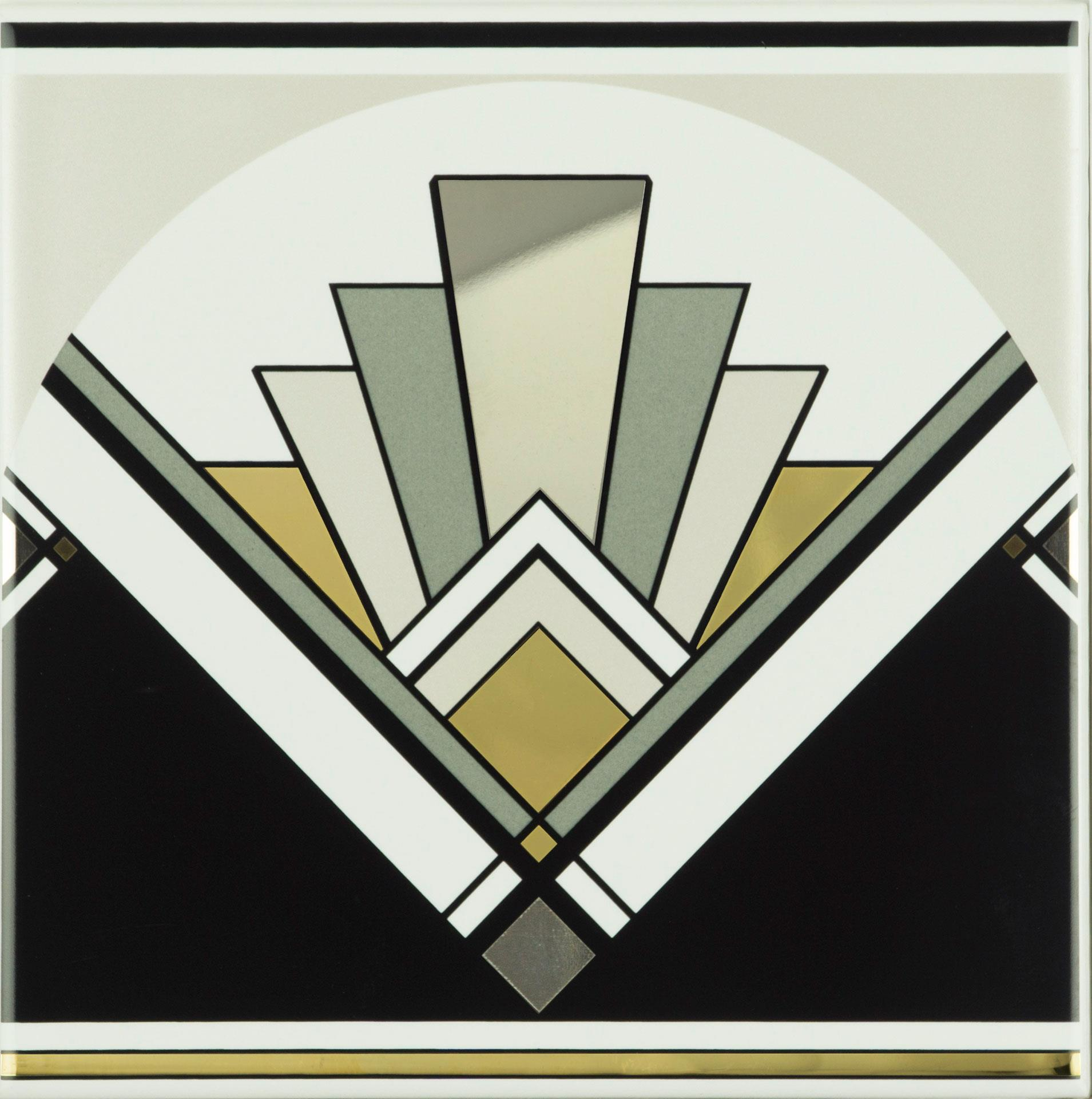 Art Deco Fan Tile
