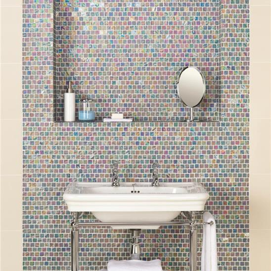 serene therapy glass mosaic tile