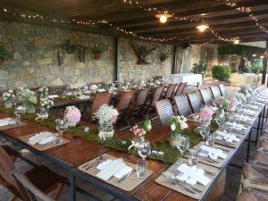 reception in a farmhouse