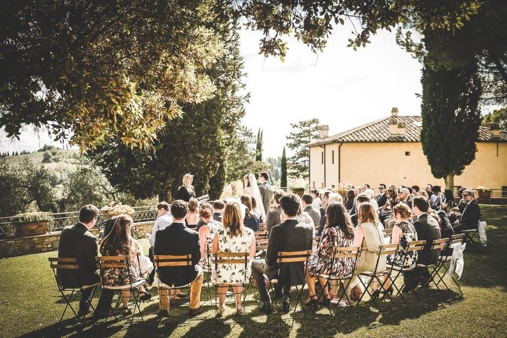 Annette & Simon Cerimony wedding in Tenuta di Sticciano