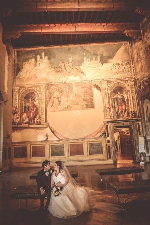 Tara & Alvin celebrate their civil Ceremony in the historical museum of Siena.