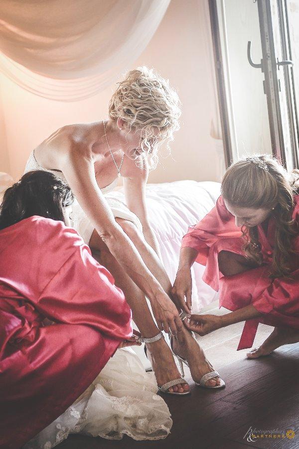 bride preparing for wedding Tuscany