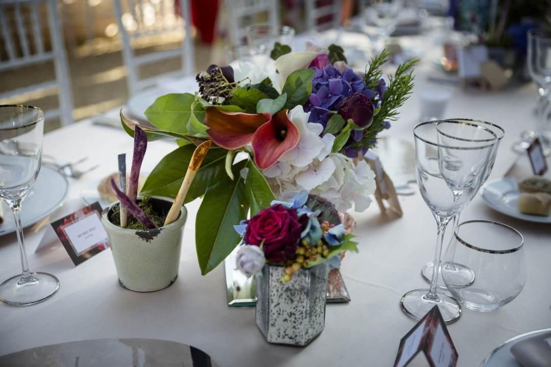 art theme table florence wedding