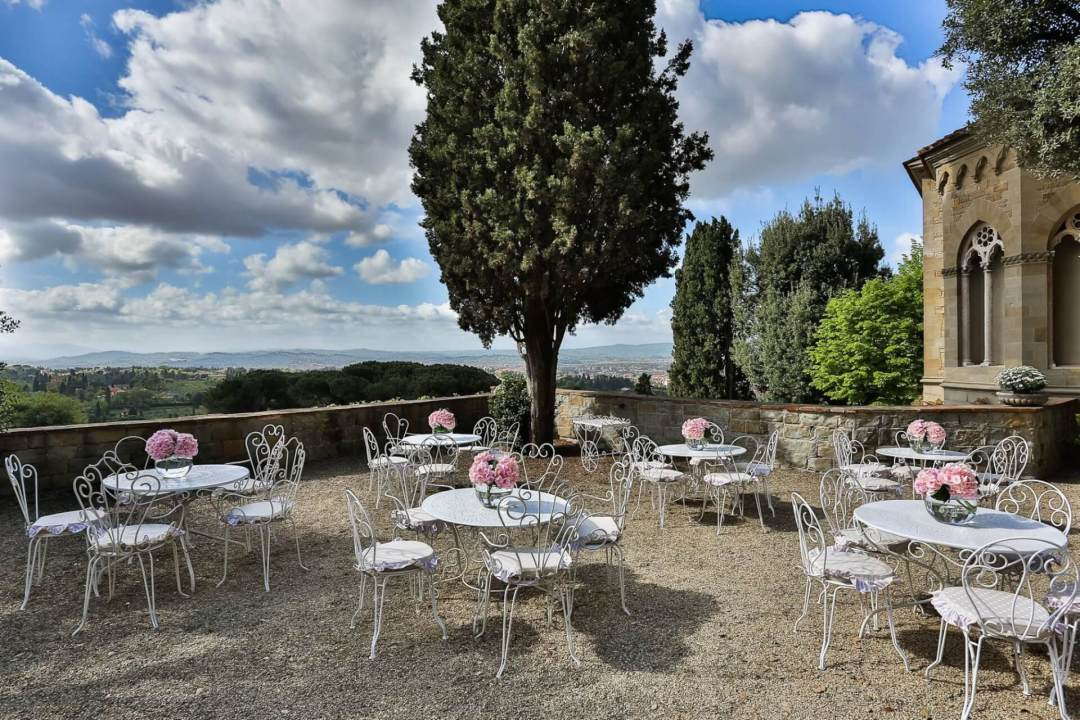 chairs view fontanelle wedding tuscany