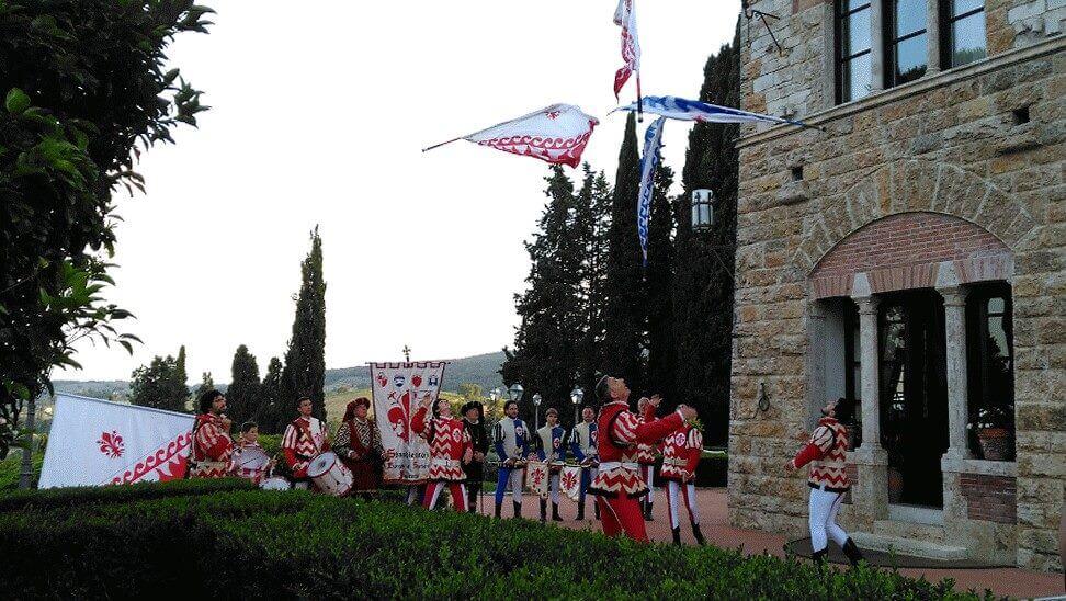 flag throwers wedding