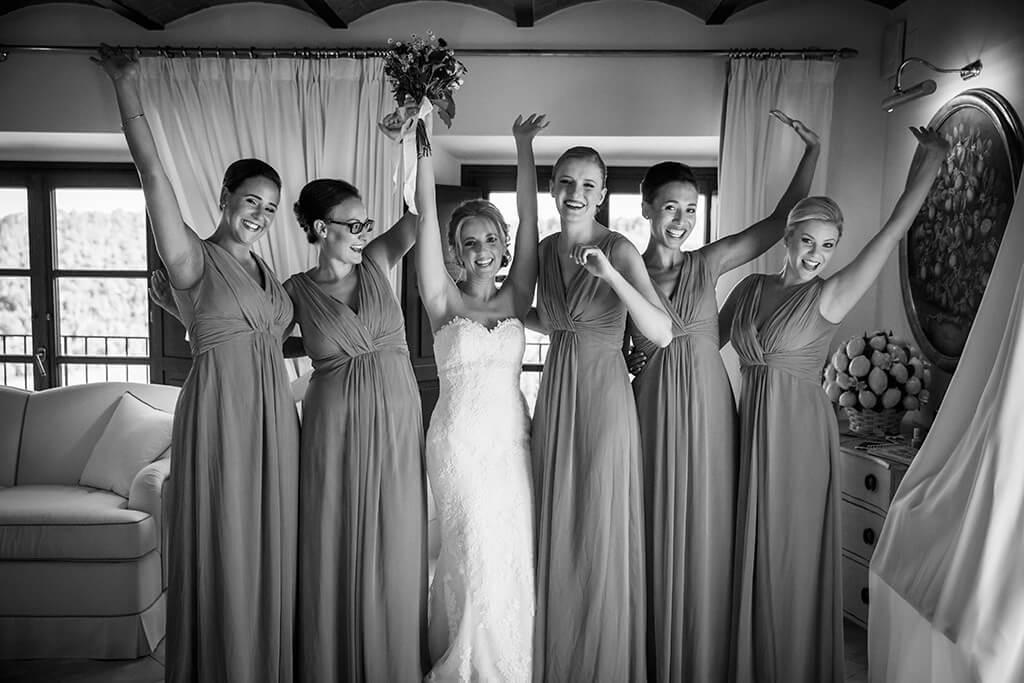 tuscany style wedding bridesmaids