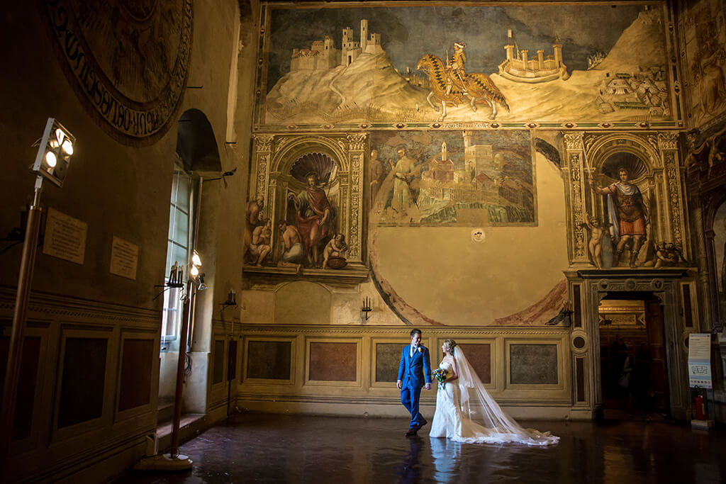 wedding in medieval palace