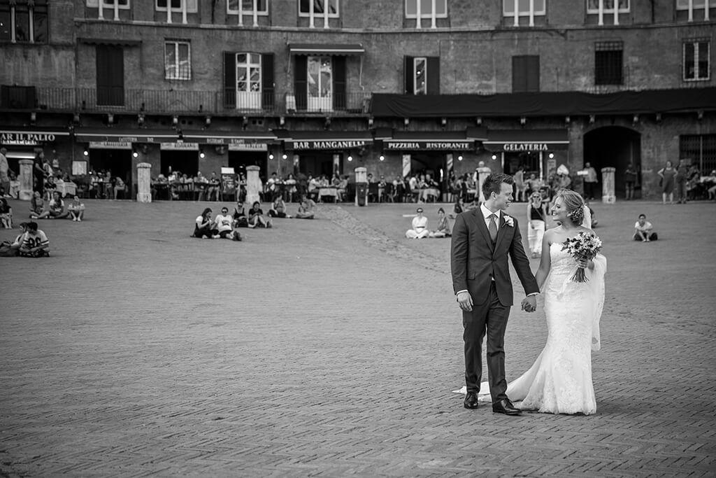 wedding at Piazza del Campo