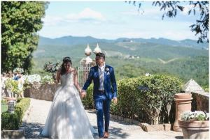 Claire & Nathan wedding near Siena