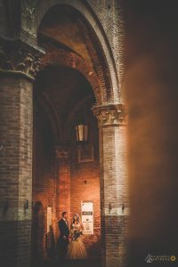 wedding in Siena's town hall palace museum