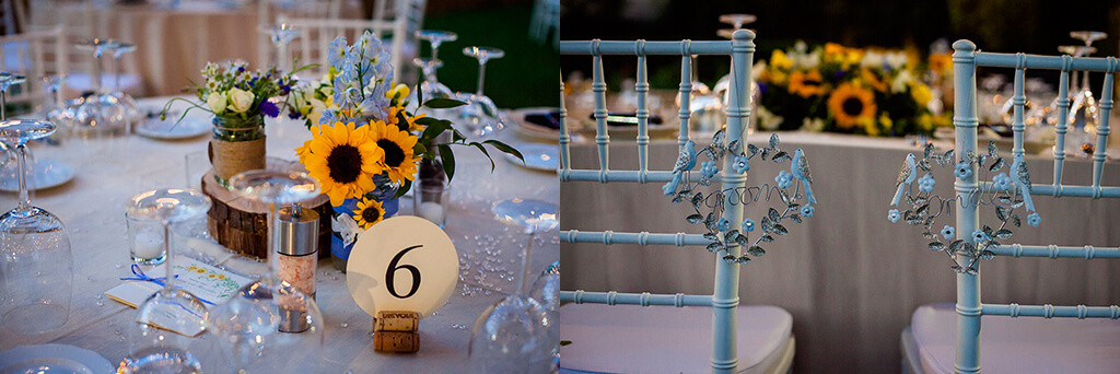 tuscan wedding table decorations