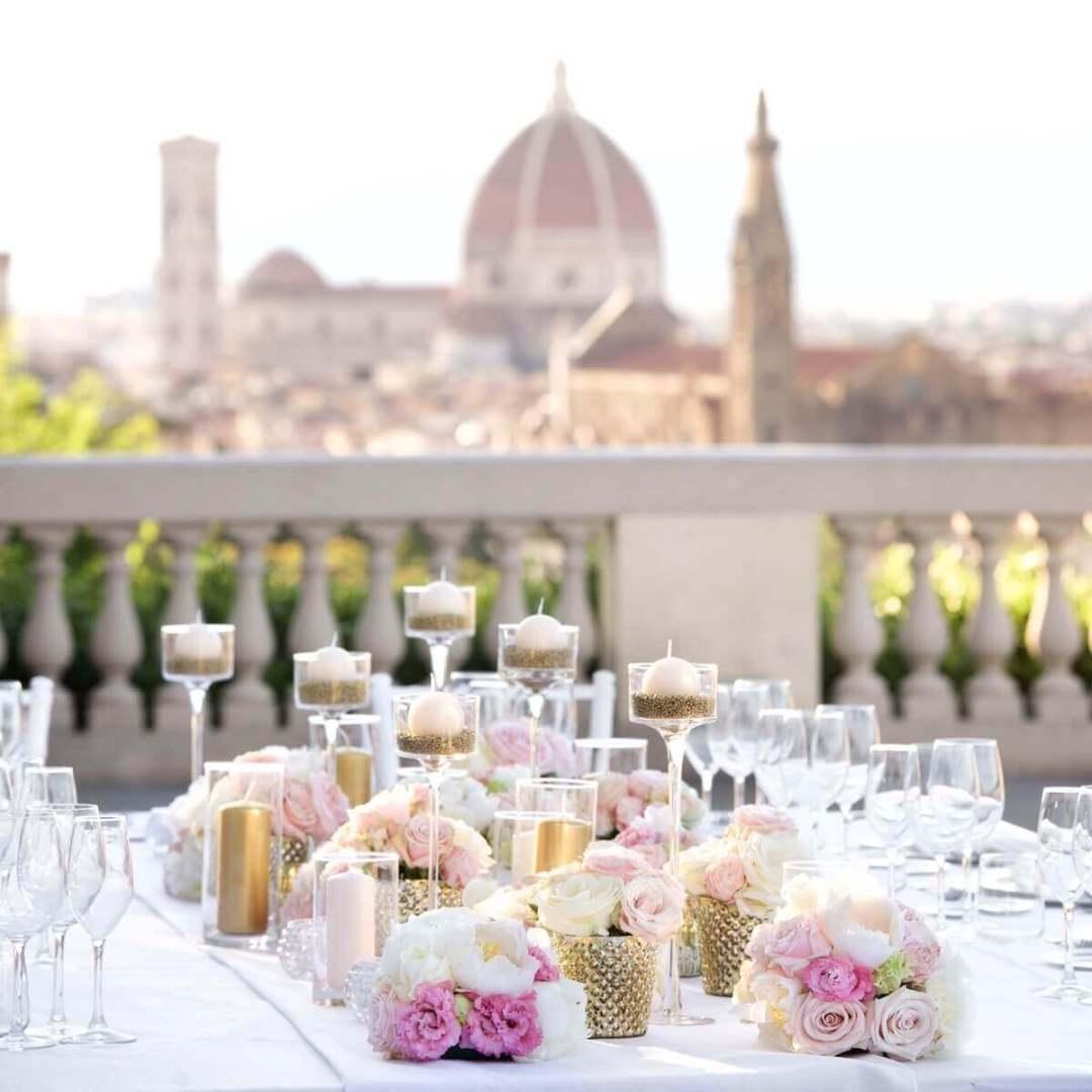 table decoration wedding Florence