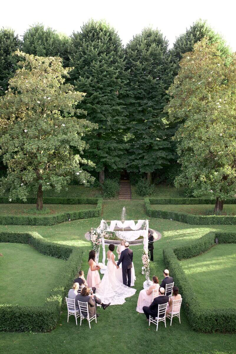 wedding in the hotel garden