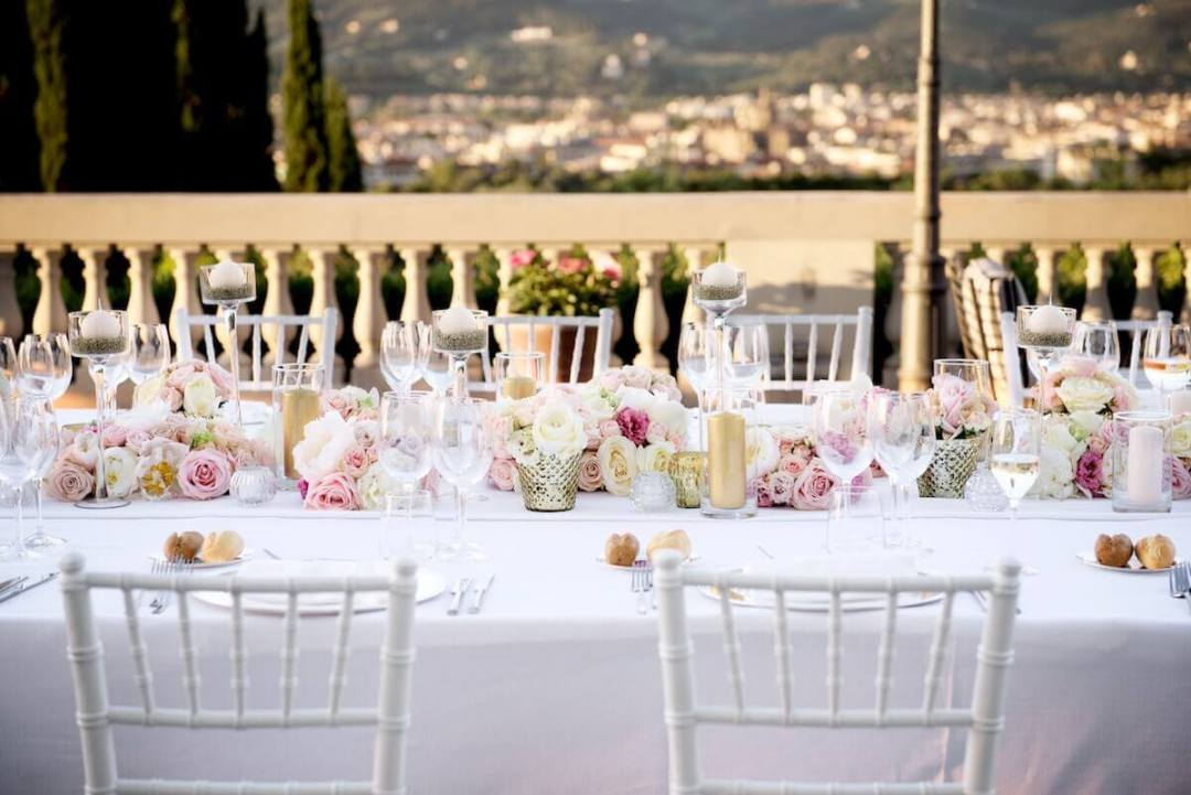 wedding table with a view Florence