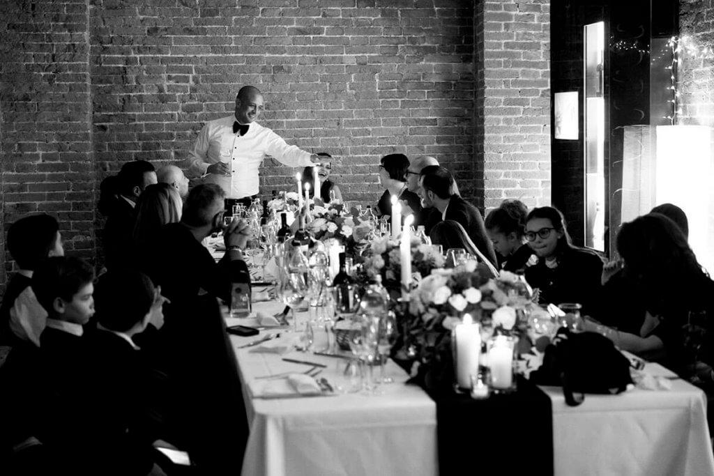 wedding dinner at the restaurant Mille Vini
