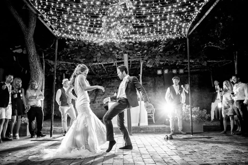 fun wedding in tuscany