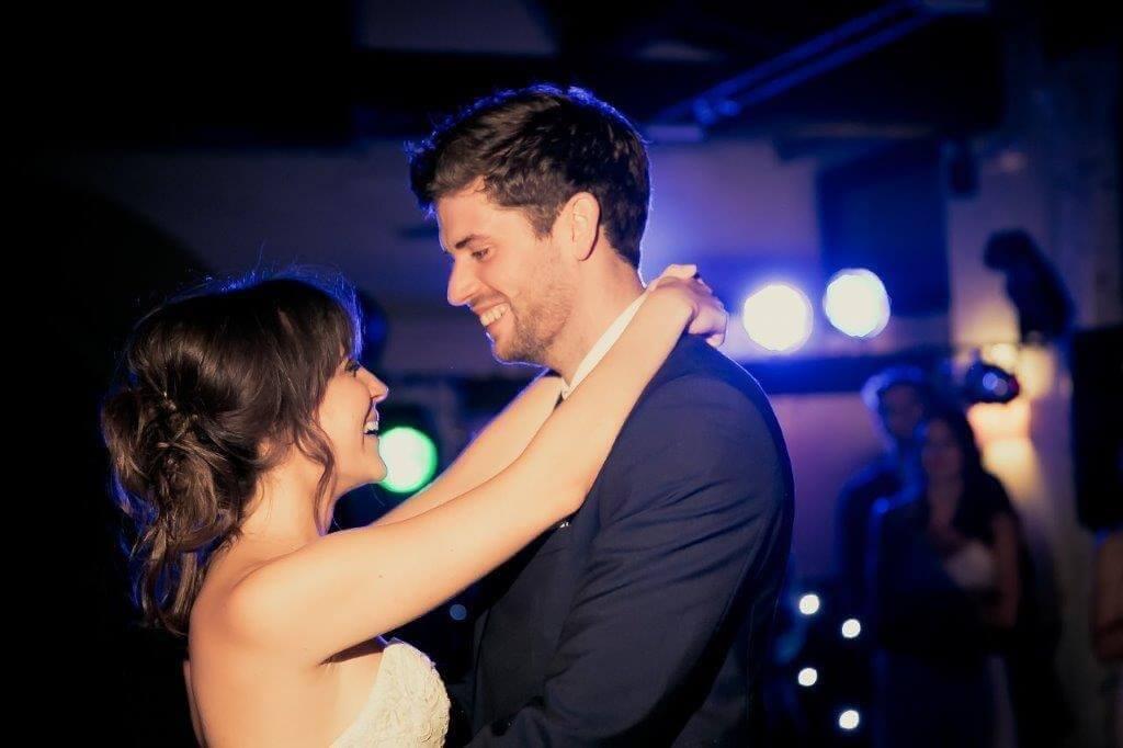 Caroline & Richard having their first dance