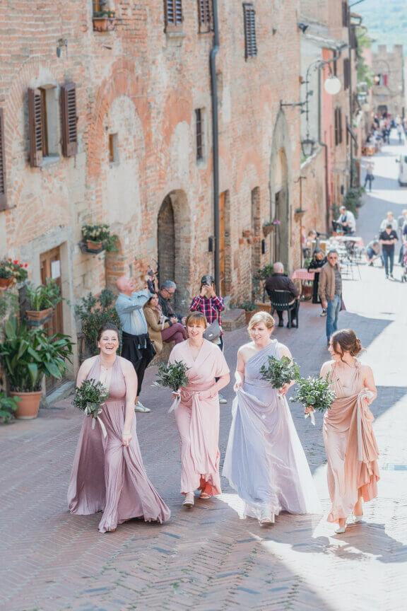 civil ceremony in the Wedding Hall at Certaldo