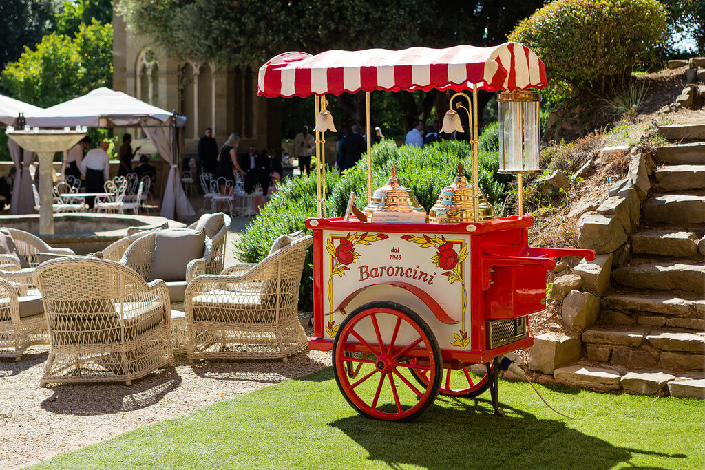 Beautiful Ice Cream Cart for the wedding