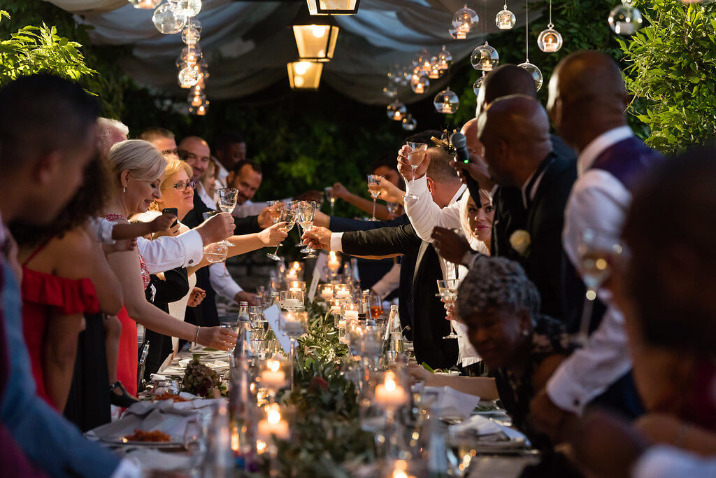 A toast to the marriage of Kristina & Jerome