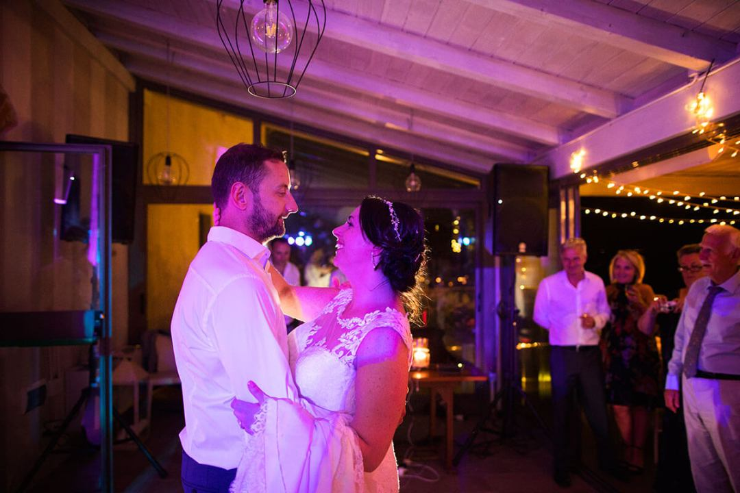 Anya & James have a romantic first dance
