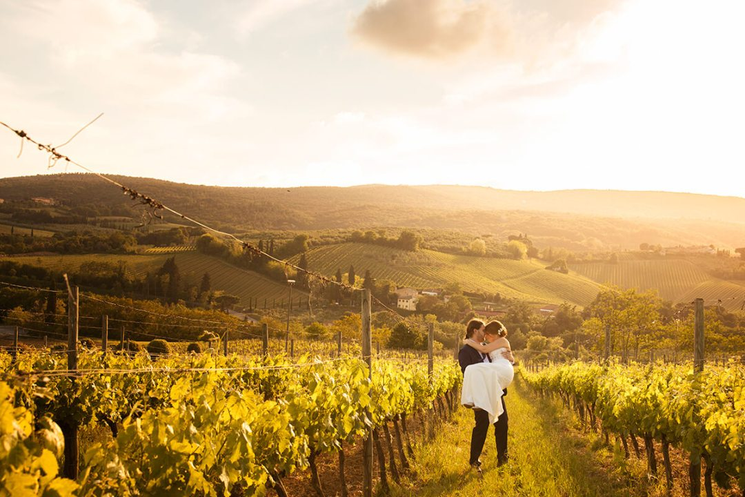 winery wedding in Tuscany