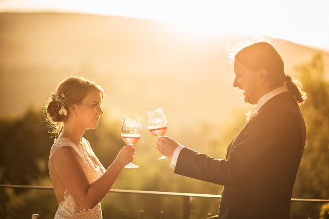 wine wedding in Tuscany