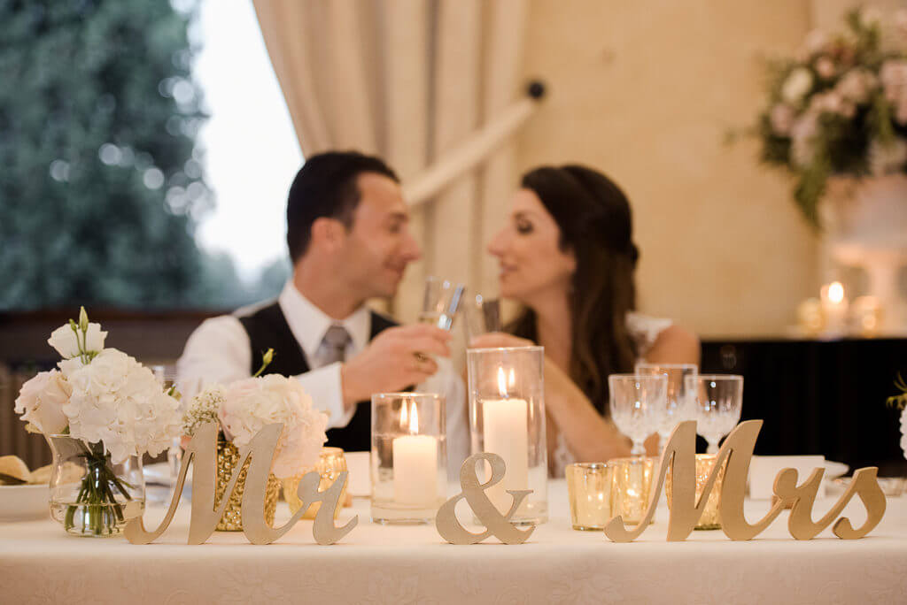 wedding reception at Castello Vicchiomaggio