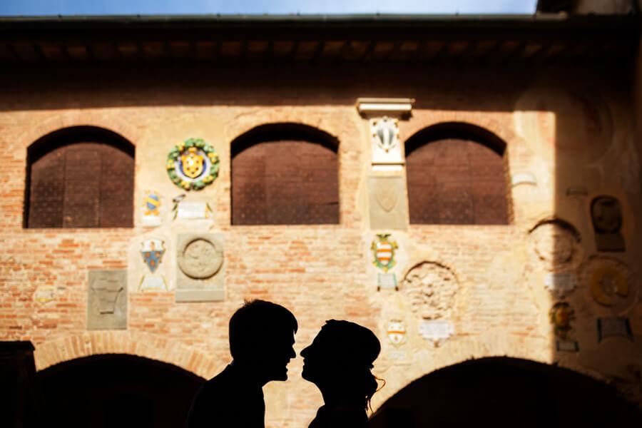 intimate wedding ceremony in Certaldo