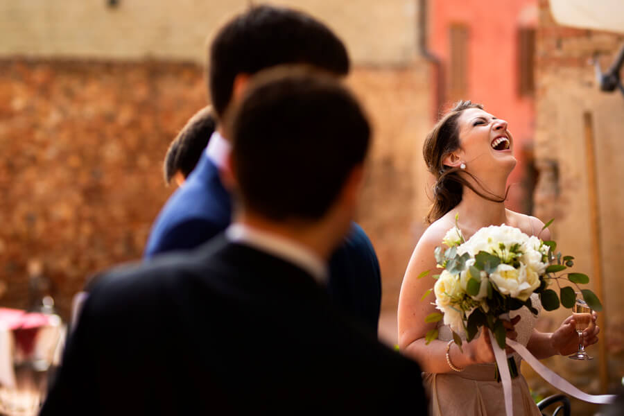 Civil ceremony in an italian medieval town