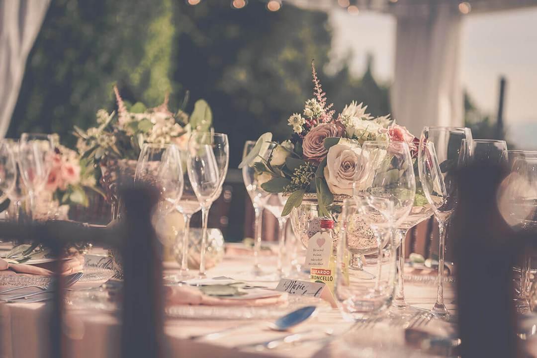 Italian wedding reception