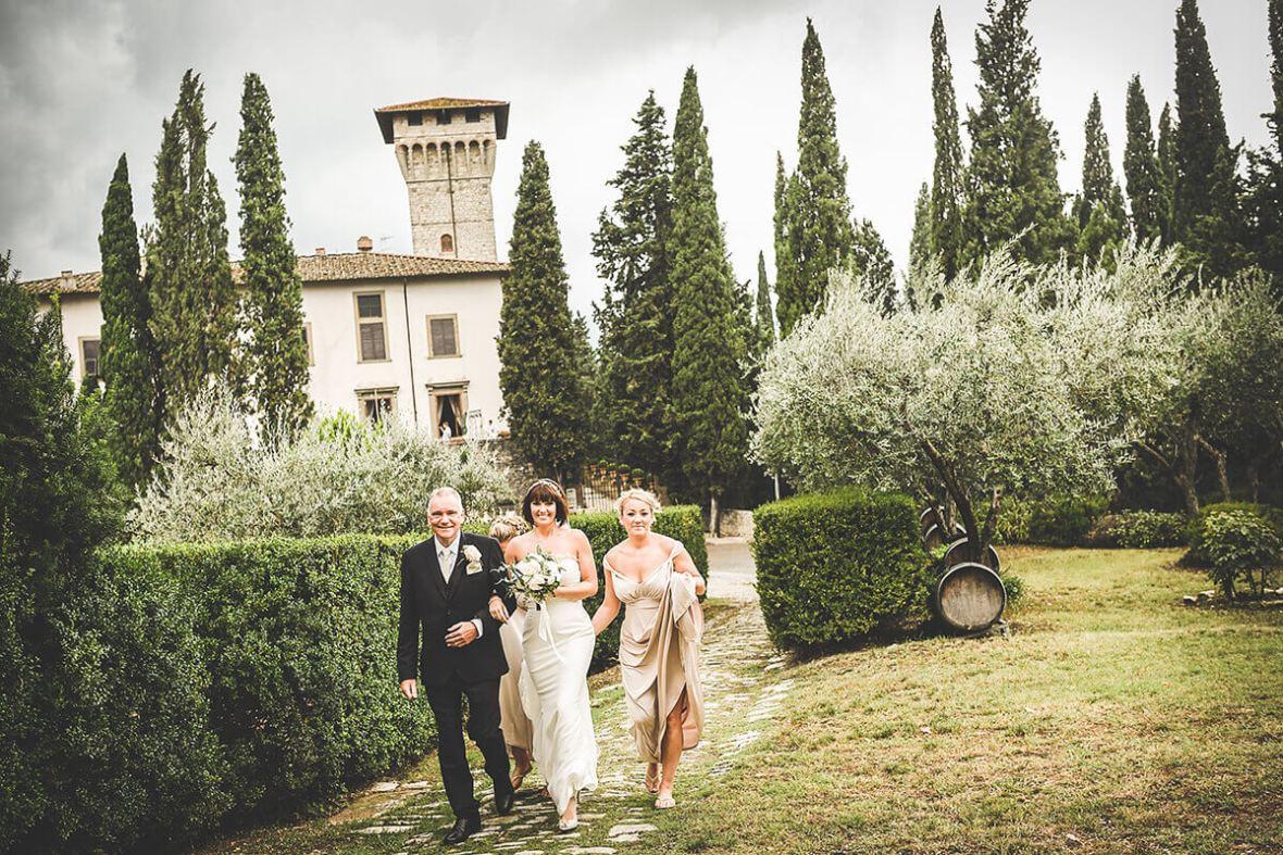 Ceremony at Castello Vicchiomaggio