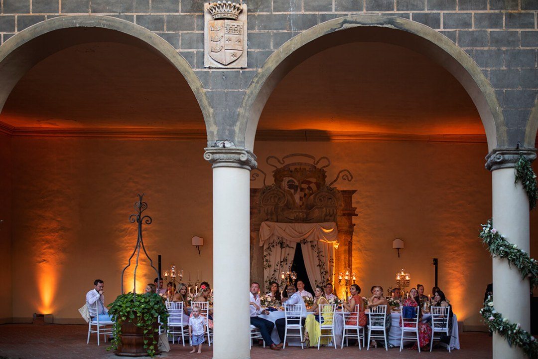 wedding reception in a Castle in Europe