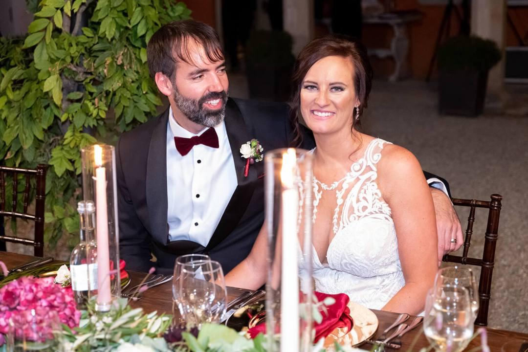 al fresco wedding dinner in Italy