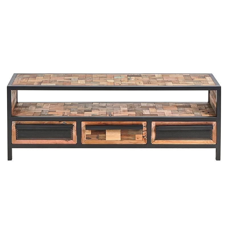meuble tv industriel atelier 150 cm