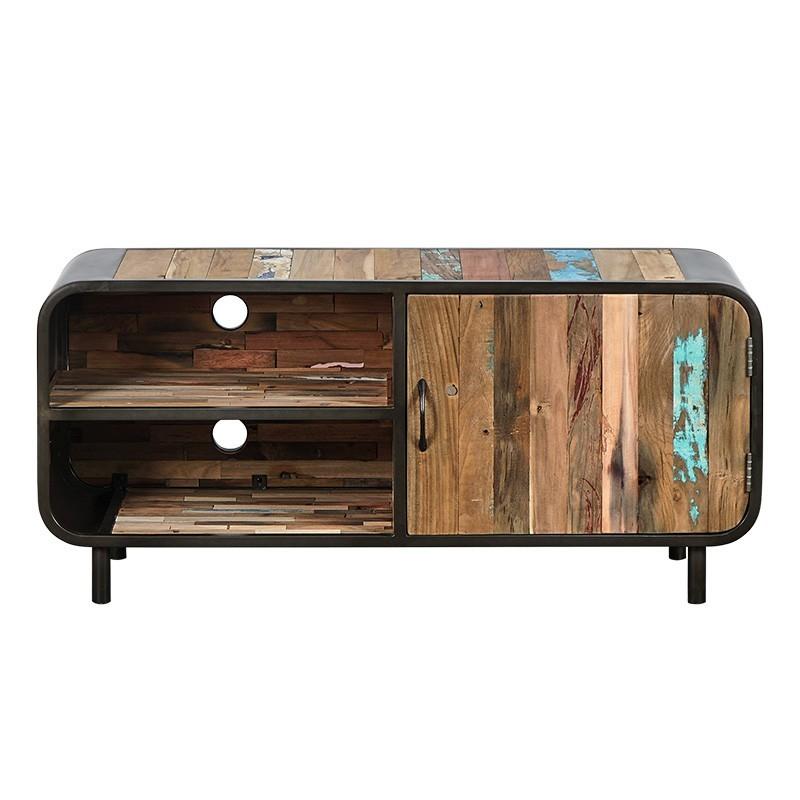 meuble tv industriel vintage 120 cm