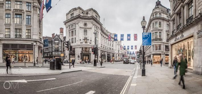 Regent Street, London. Short photographic England trip