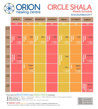 orion schedule SHALAS BEN-01